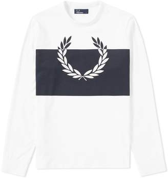 Fred Perry Authentic Long Sleeve Blocked Laurel Wreath Tee