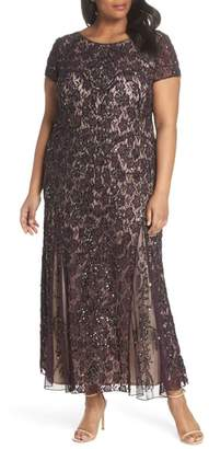 Pisarro Nights Embellished Lace A-Line Dress