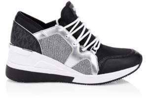 MICHAEL Michael Kors Scout Glitter Chain Sneakers