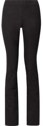 Joseph Lex Stretch-gabardine Flared Pants - Black