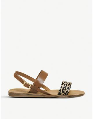 Office Honey slingback leopard-print leather sandals