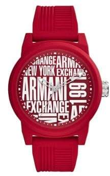 Armani Exchange ATLC Aix Analog Silicone Strap Watch