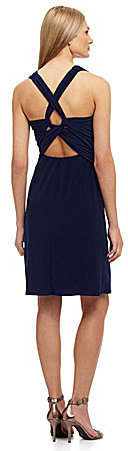 Vera Wang Sleeveless Wrap Dress