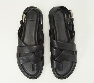 Frye Leather Toe-Loop Sling-Back Sandals - Tait