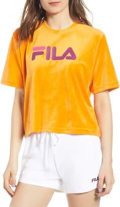 Fila Florita Velour Logo Tee