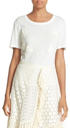 Women's See By Chloe Lace Applique Tee $175 thestylecure.com