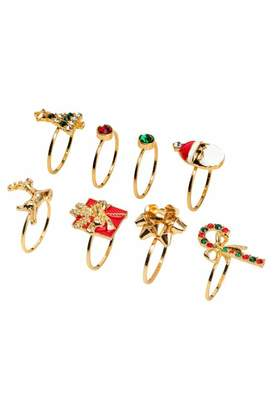 H&M 8-pack Rings - Gold/red - Women