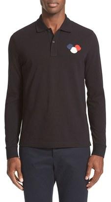 Men's Moncler Bells Applique Long Sleeve Polo $195 thestylecure.com