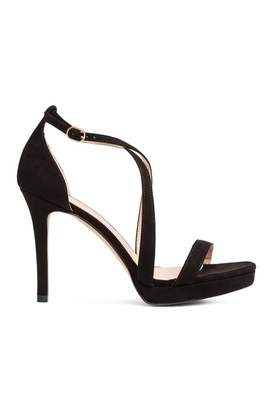 H&M Sandals - Black/faux suede - Women