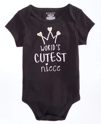 First Impressions Baby Girls Cutest Niece-Print Bodysuit, Created for Macy's