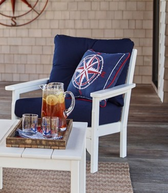 L.L. Bean L.L.Bean All-Weather Patio Chair with Navy Cushion