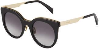 Balmain Plastic Round Gradient Sunglasses