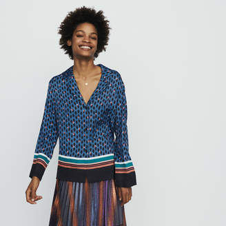 Maje Pajama style shirt with monogram print