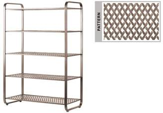 Urban Trends Collection: Metal Rack Metallic Finish Champagne