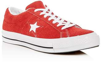 Converse Men's One Star Textured Suede Lace Up Sneakers