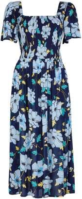 Dorothy Perkins Womens **Tall Navy Flutter Skater Dress