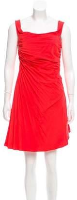 Valentino Asymmetrical Pleated Dress