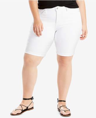 Levi's Plus Size Lost Blues Cotton Denim Bermuda Shorts