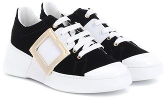 Roger Vivier Viv Skate velvet sneakers