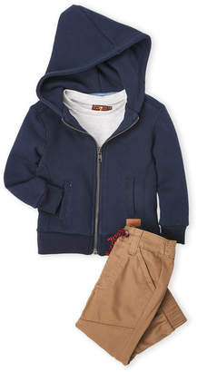 7 For All Mankind Infant Boys) 3-Piece Hoodie, Tee & Drawstring Pants Set