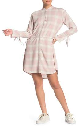 AllSaints Florence Plaid Drawstring Shirt Dress
