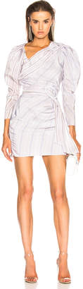 CARMEN MARCH Draped Mini Dress