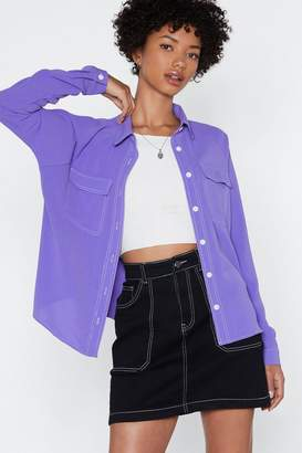 Nasty Gal Sew Be It Oversized Shirt