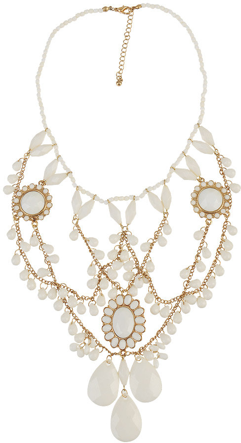 Beaded Drape Necklace