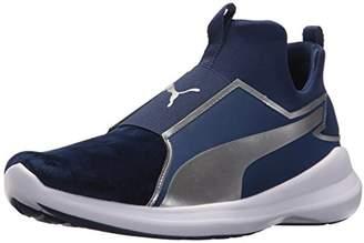 Puma Women s Rebel Mid WNS Velvet Rope BL Sneaker Blue Depths Silver d46d49dc8