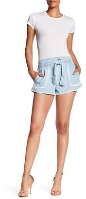 Saylor Jada Crochet Accent Shorts