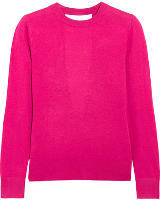 MICHAEL Michael Kors - Cutout Knitted Sweater - Pink $165 thestylecure.com