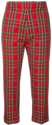 DSQUARED2 tartan print cropped trousers