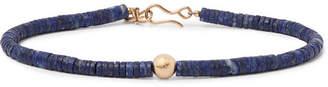 Peyote Bird Gold And Lapis Bracelet