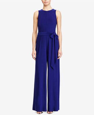 Lauren Ralph Lauren Wide-Leg Jersey Jumpsuit $129 thestylecure.com