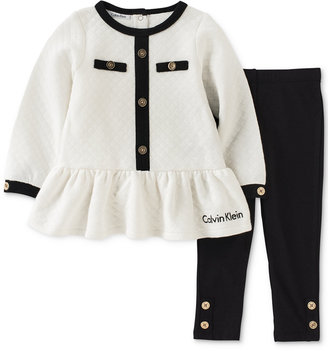Calvin Klein 2-Pc. Quilted Tunic & Leggings Set, Baby Girls (0-24 months) $45 thestylecure.com