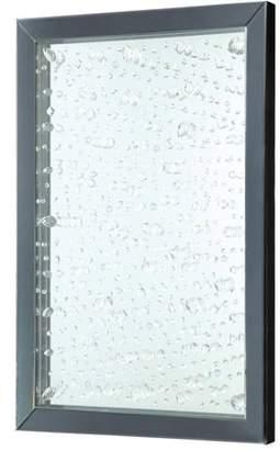 Coaster Company Mirror with Rain Drops Design and Black Frame