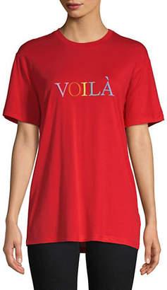 Topshop TALL Voilà Embroidered T-Shirt