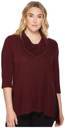 Karen Kane Plus Plus Size Cowl Neck Side Slit Sweater Women's Sweater