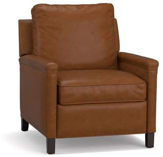 Pottery Barn Tyler Leather Square Arm Power Recliner