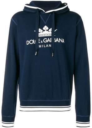 Dolce & Gabbana crown logo printed hoodie