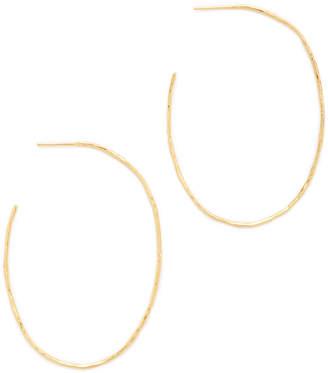 Gorjana Harbour Oval Hoop Earrings $60 thestylecure.com