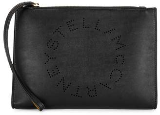 Stella McCartney Stella Logo Black Clutch