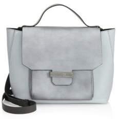 Brunello Cucinelli Mixed Metallic Leather Messenger Bag