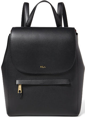 Ralph Lauren Lauren Leather Ellen Backpack $248 thestylecure.com