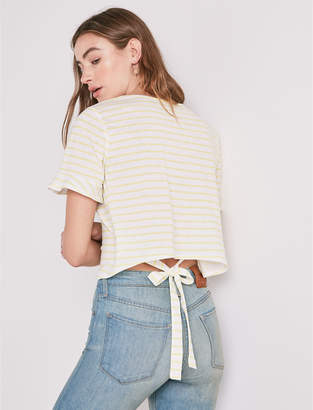 Lucky Brand YELLOW STRIPE TEE
