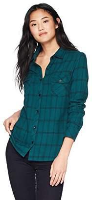 Volcom Women's Street Dreaming Long Sleeve Flannel Shirt