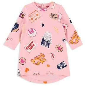 Little Marc Jacobs Girls' Miss Marc Fleece Sweater Dress - Baby