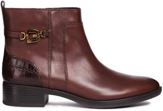 Geox D Felicity Leather Ankle Boots
