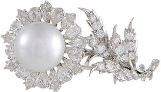 Buccellati Heritage  18K 5.50 Ct. Tw. Diamond & Pearl Brooch