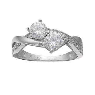 SILVER TREASURES Silver Enchantment Cubic Zirconia Intertwining Ring